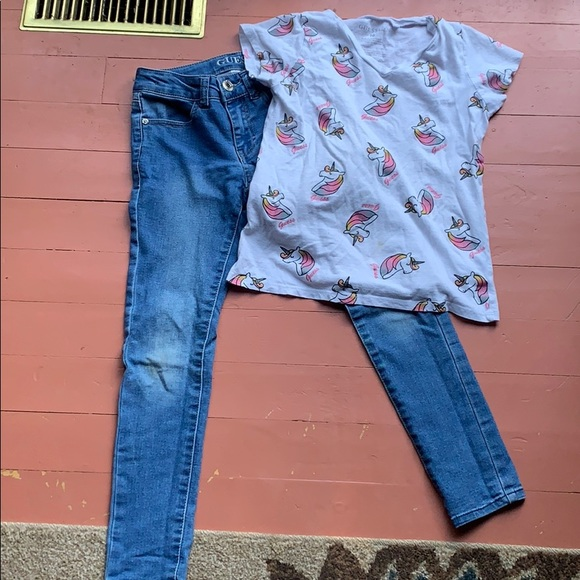 Guess jeans and top